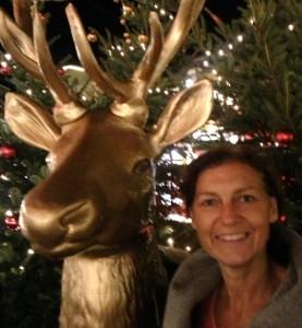 Barbara auf dem Weihnachtsmarkt